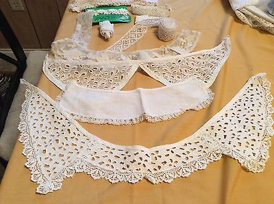 Collection Lot Vintage Ladies Collars And Lace