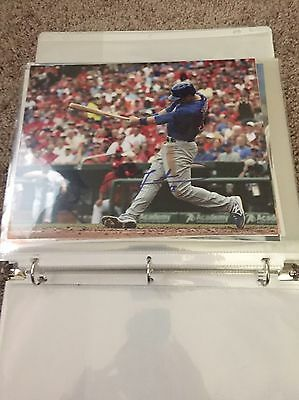 BEN ZOBRIST Signed Autographed CHICAGO CUBS 8X10 Photo In-Person