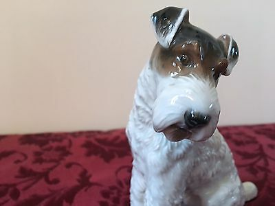 Very Nice Rosenthal Wire Haired Terrier Dog Figurine #1243 by M.H. Fritz