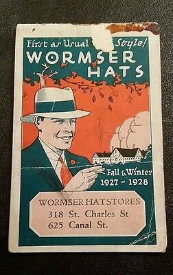 Wormser Hat Stores New Orleans 1927-28 promotional booklet