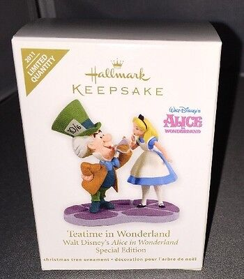 Hallmark 2011 ALICE Teatime in Wonderland Special Edition Ornament NEW