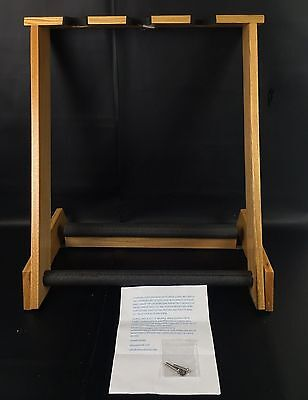 Handcrafted Solid Wood Guitar Stand By Allwood Holds up to 3 Elec/Base Guitars