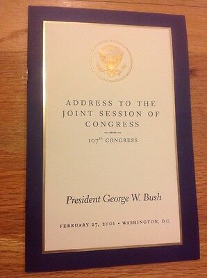 George W. Bush February 27, 2001 State of the Union Address to Congress Program