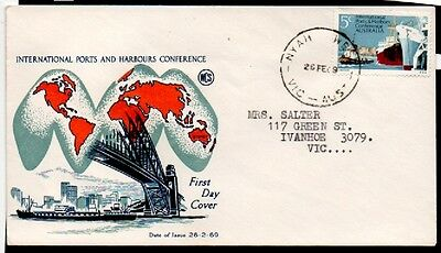 1969 International Ports Numbered Stamp Australia FDC  First Day of Issue