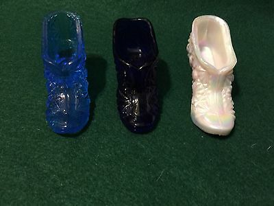 Lot of 3 - Glass Shoe/Slippers Figurines- Collectibles - NICE!
