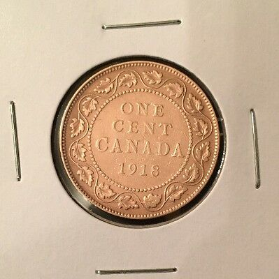 1918 - Canadian Coin - Large One Cent - Penny - Canada