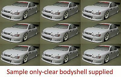 1:10 RC Clear Lexan Body Shell Aussie Commo VY 200mm suit Electric or Nitro