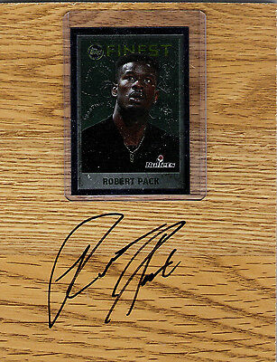 Robert Pack Bullets Cavaliers Knicks signed Floorboard with Card and COA