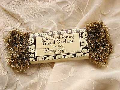 BETHANY LOWE Old-Fashioned ~VINTAGE GOLD TINSEL GARLAND~  9 FEET ~ NWT!