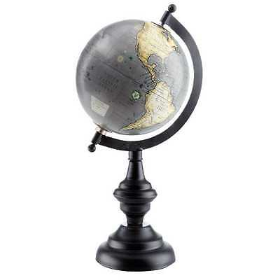 "Gorgeous 11.1/2""  Desktop World Gray Globe. Antiqued Gray Color"