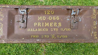 Ammunition....explosives.... Metal, Steel Military Box, Collectible