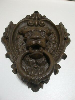 Lion Head Metal Cast Iron Front Door Knocker *NEW*