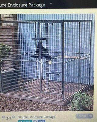 Cat Deluxe Enclosure Package with free cat run tunnels