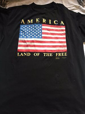 Vintage 3D Emblem America 'Land of the Free' XL Shirt Just Brass Deadstock