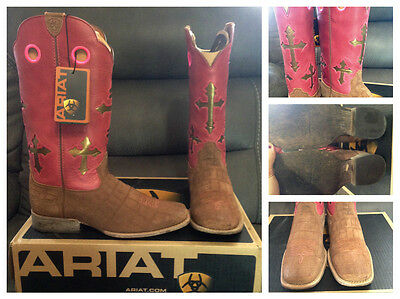 Ariat Ranchero cross boots, size youth 5.5/ladies 7.5.