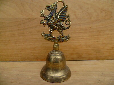 Vintage Old Brass Wales Large Size Bell, (C303)