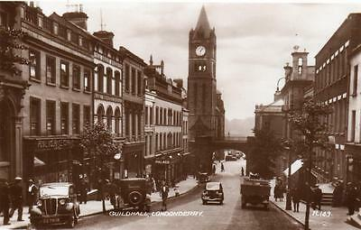 Guildhall Londonderry unused RP pc 1938 Valentines Ref A202