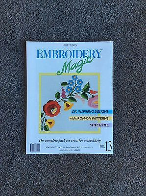 EMBROIDERY MAGIC 6 DESIGNS WITH IRON-ON PATTERNS PLUS STITCH FILE PACK No 13
