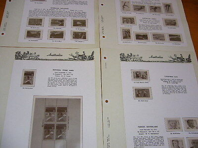 Seven Seas 4 Hingeless Australia Album Pages Only Used For 3 Ring Binder 1976