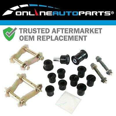 L+R Greasable Rear Leaf Spring Shackle, Bush + Pin Kit Hilux 4x4 IFS 1991-05 Ute