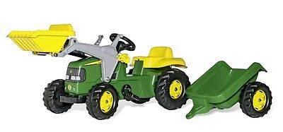 Rolly Toys -  John Deere Ride on Pedal Tractor with Loader & Trailer Age 2 1/2 +