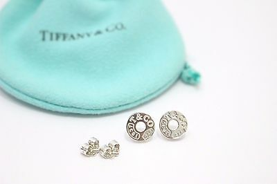 Auth Tiffany & Co. Sterling Silver 1837 Circle Earrings