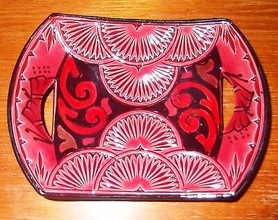 Vintage Pottery Scatter tray/pin dish in rose