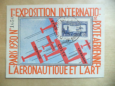 1930 Poste Aerienne 1Ere  Exposition Internationale Paris N° 1650 Aeronautique