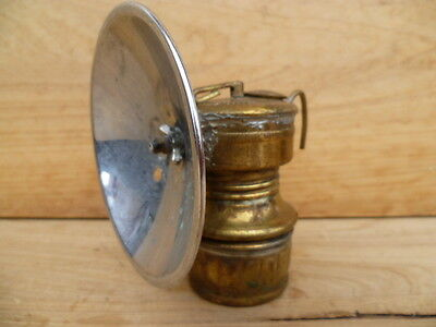 Vintage Old Small Size Brass Carbide Lamp, Light (C368)