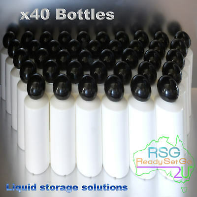 PLASTIC BOTTLES 100ML HDPE CHEMICAL RESISTANT x40 SET FOOD SAFE LIQUID STORAGE