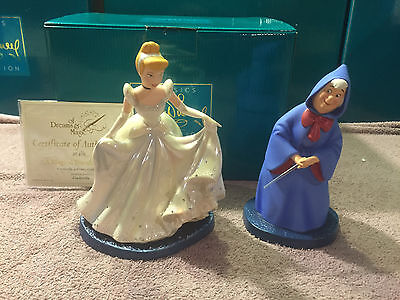 """WDCC Cinderella & Fairy Godmother """"A Magical Transformation"""" Rare Artist Proof"""
