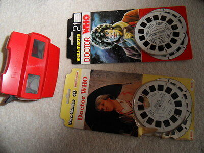 Viewmaster Dr Who Full Circle Baker '80 Castrovalva Davidson '82 21 3D pics each