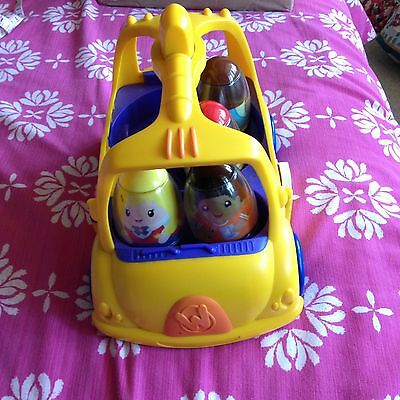 Hasbro Playskool Weebles And Car Vgc Toy Toddler