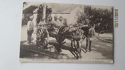 carte postale ancienne CPA  guerre 1914 troupes indiennes voiture ravitaillement