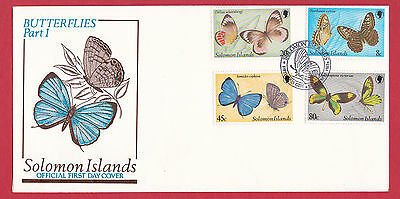 Solomon Islands 1980 - Butterflies (1st Series) set on FDC.