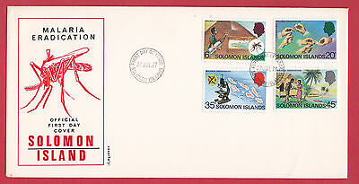 Solomon Islands 1977 - Malaria Eradication set on FDC.