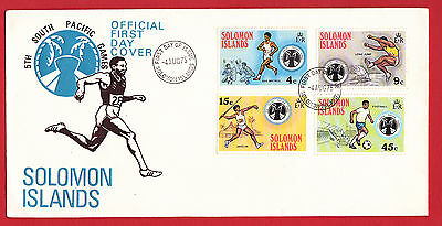 Solomon Islands 1975 - South Pacific Games set on FDC.