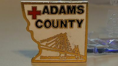 Adams County Chapter of the American Red Cross.  This is a 1993 pinback.