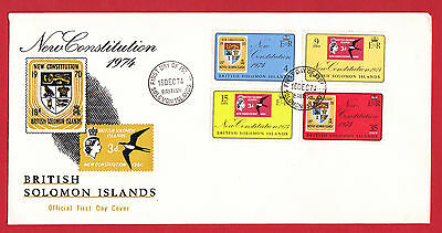 British Solomon Islands 1974 - New Constitution set on FDC.