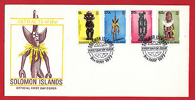 Solomon Islands 1977 - Artifacts set on FDC.
