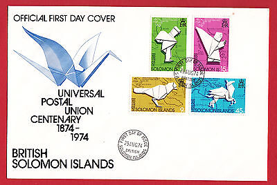 British Solomon Islands 1974 - Universal Postal Union set on FDC.