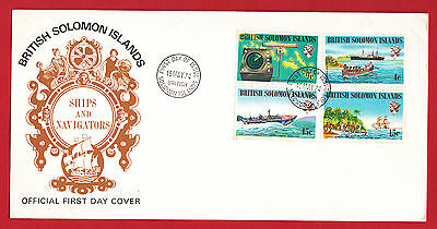 British Solomon Islands 1974 - Ships and Navigators set on FDC.