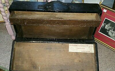 Waring & Gillows Antique Carpenter's Box Tool Chest Storage Quality Furniture