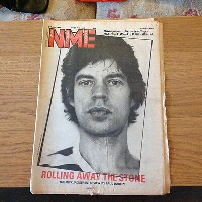NME 1980 Mick Jagger cover interview