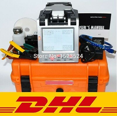 SM&MM Automatic FTTH Fiber Pro Optic Splicing Machine Optical Fiber Fusion DHL