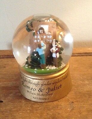 Snow Globe Featuring Shakespeare's Romeo & Juliet 'Parting Is Such Sweet Sorrow'