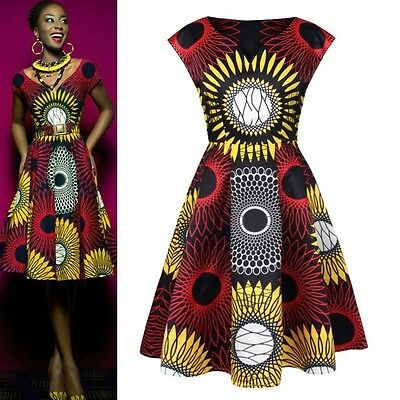 African wax print dress. Available in size: 12