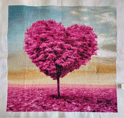"2016 NEW Finished completed handmade Cross stitch""LOVE TREE""decor Gifts"