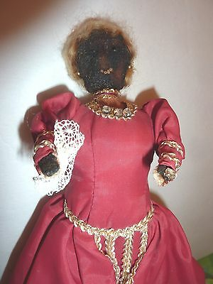 Antique Folk Art Apple Head Doll  Dried Apple Doll vintage