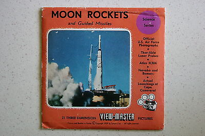 Viewmaster Reel B6561,2,3 Moon Rockets And Guided Missiles